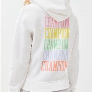 Champion White & Pastel Hoodie Sweatshirt